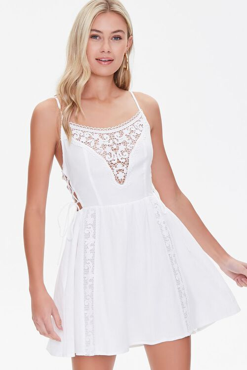 Lace-Panel Fit & Flare Dress, image 1