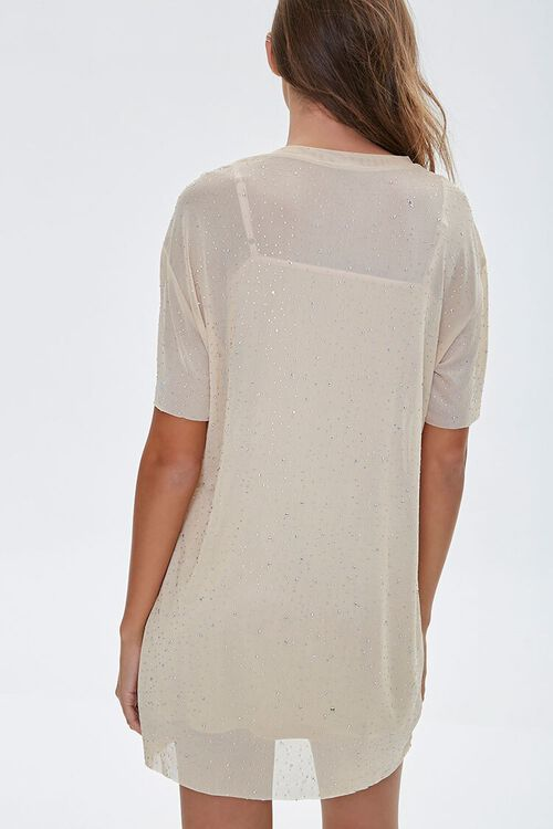 Metallic Pin Dot T-Shirt Dress, image 3