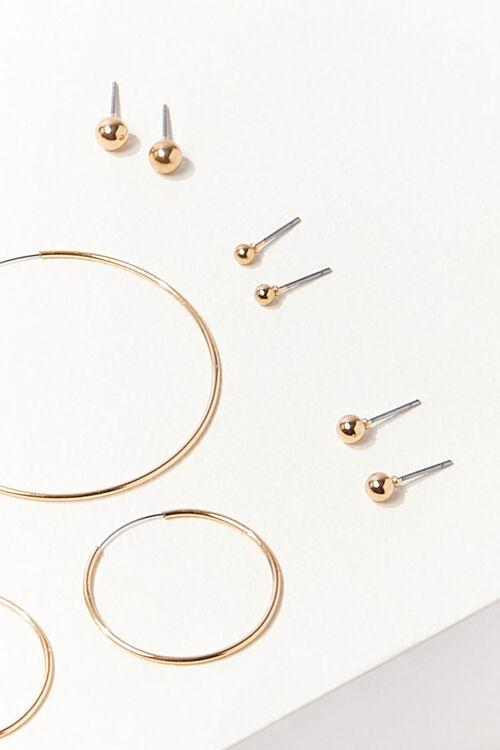Stud & Hoop Earring Set, image 2
