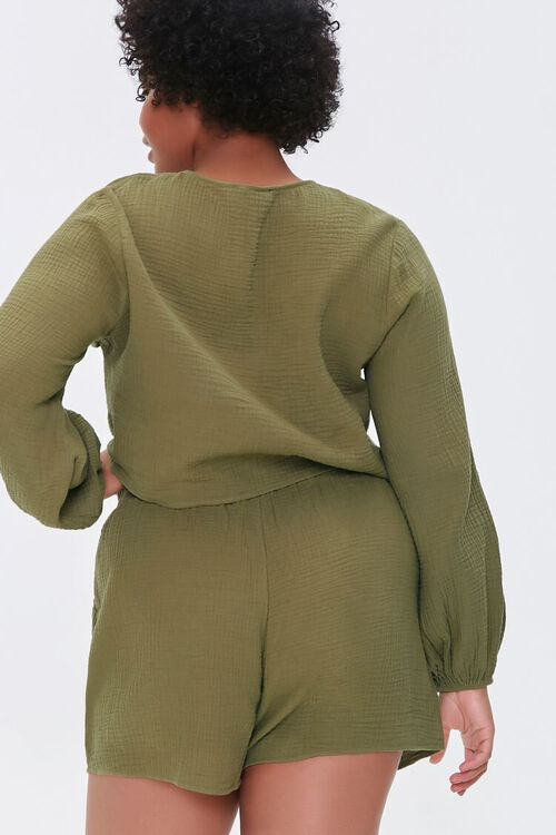 OLIVE Plus Size Peasant Sleeve Top, image 3
