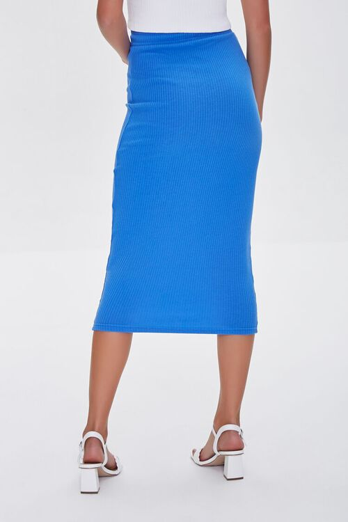 ROYAL BLUE  Fitted Drawstring Skirt, image 4
