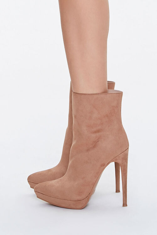 Faux Suede Stiletto Booties, image 2