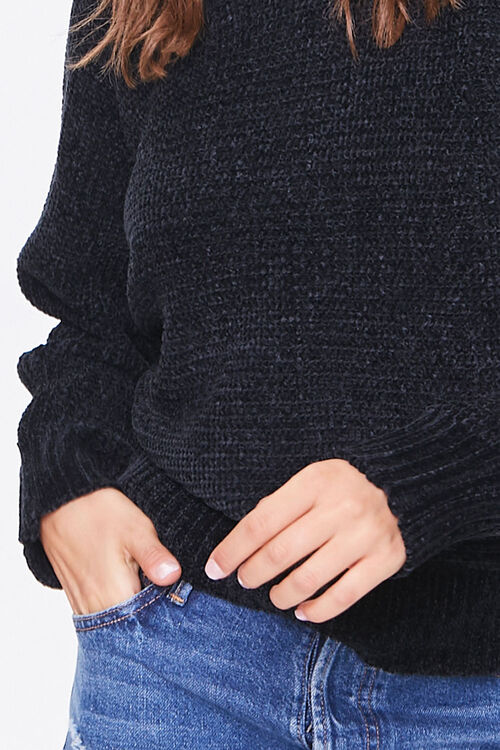 Chenille Boat Neck Sweater, image 5