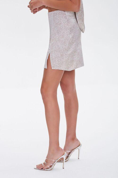 Snakeskin Print Mini Skirt, image 3