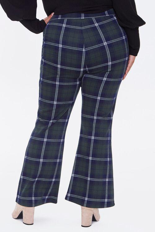 Plus Size Plaid Flare Pants, image 4