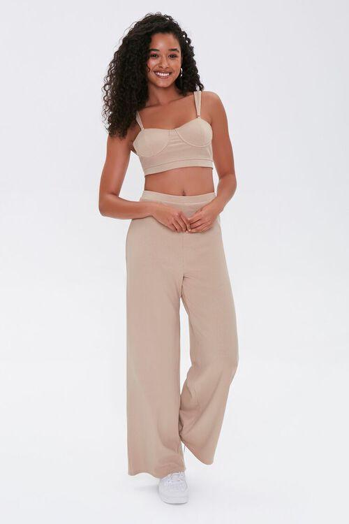 Crop Top & Wide-Leg Pants Set, image 1
