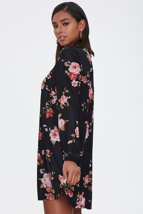 Floral Mock Neck Swing Dress, image 2