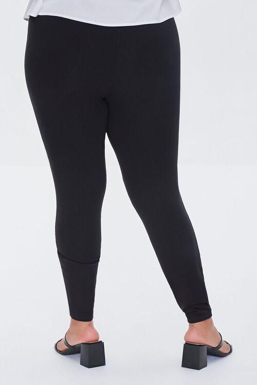 BLACK Plus Size Ripped Leggings, image 4