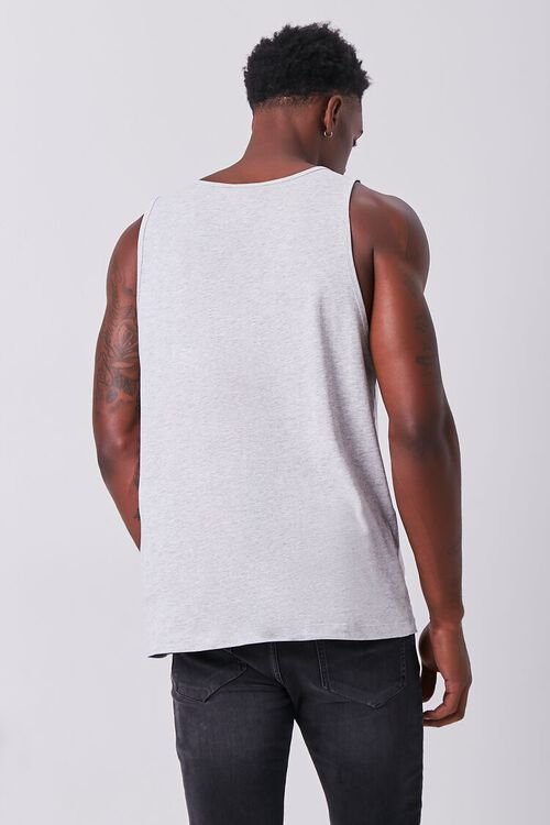 CHARCOAL HEATHER Organically Grown Cotton Basic Tank Top, image 3