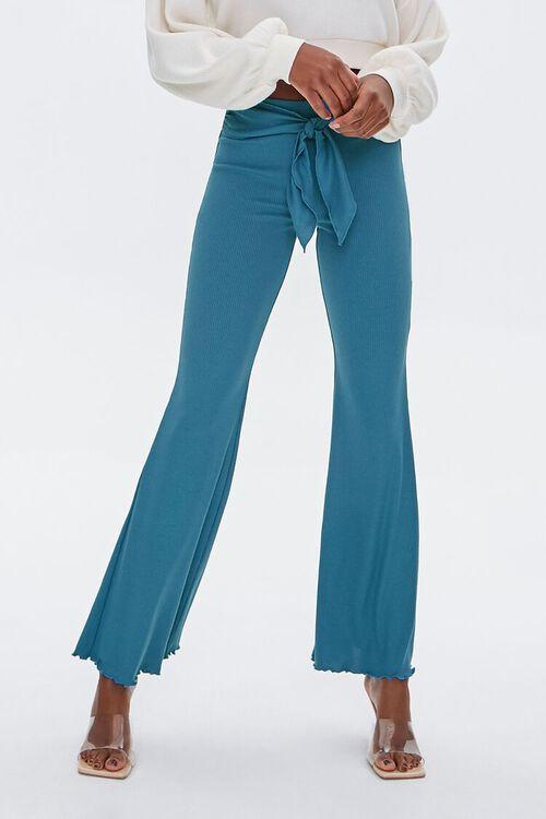 Tie-Waist Flare Pants, image 2