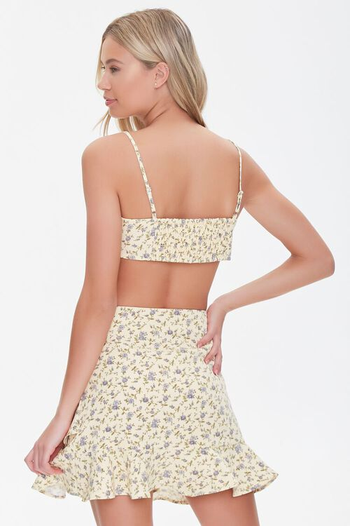 YELLOW/MULTI Floral Print Crop Top & Skirt Set, image 3