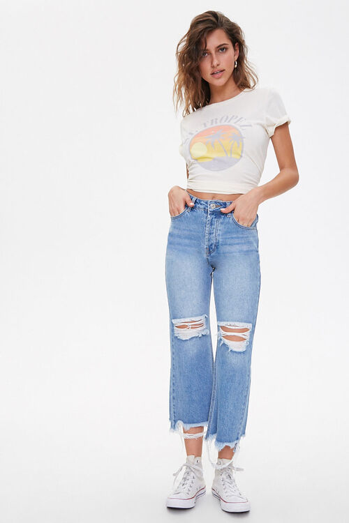 Distressed Straight-Leg Jeans, image 5
