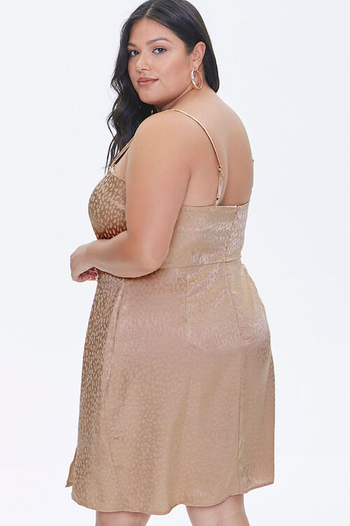 Plus Size Jacquard Cami Dress, image 3