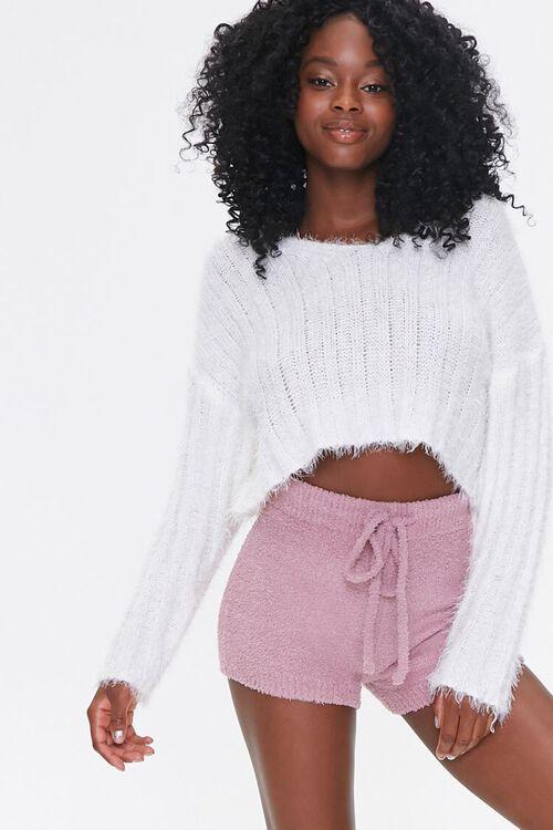 Sweater-Knit Drawstring Shorts, image 1