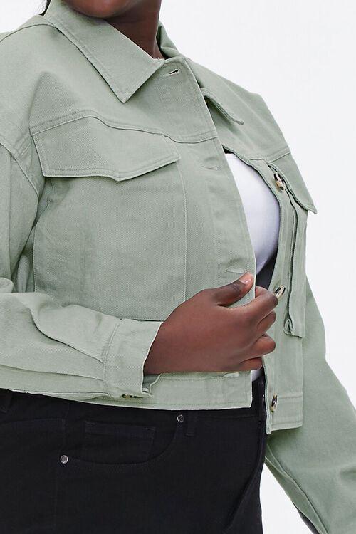Plus Size Layered Cotton Jacket, image 5