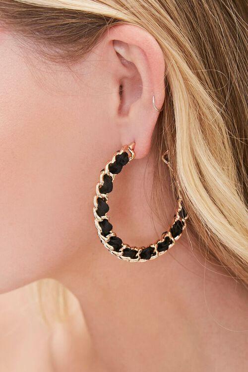 Curb Chain Hoop Earrings, image 1