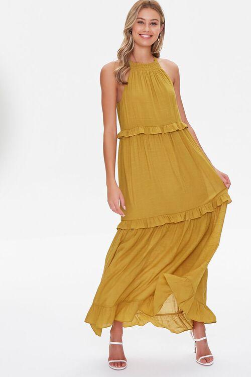 Tiered Halter Maxi Dress, image 1