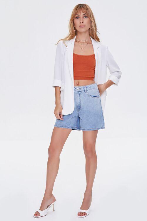 High-Rise Denim Shorts, image 5