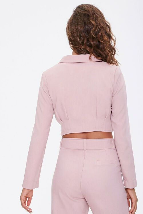 DUSTY PINK Single-Breasted Cropped Jacket, image 3