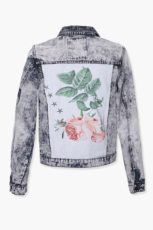 Reason Rose Graphic Denim Jacket, image 3