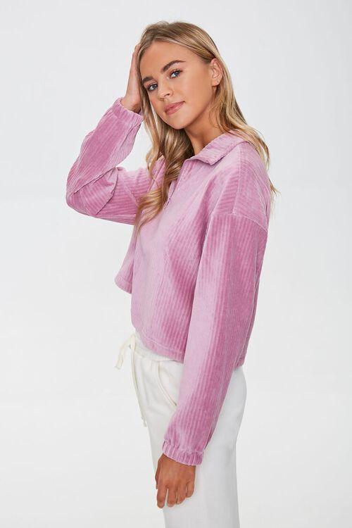 Ribbed Half-Zip Pullover, image 2