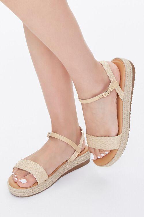 Braided-Strap Espadrille Flatform Sandals, image 1