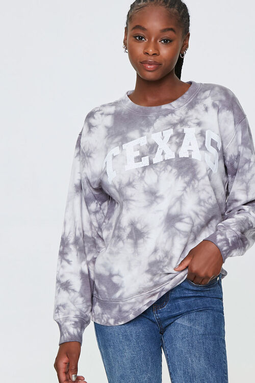 Tie-Dye Texas Graphic Pullover, image 1