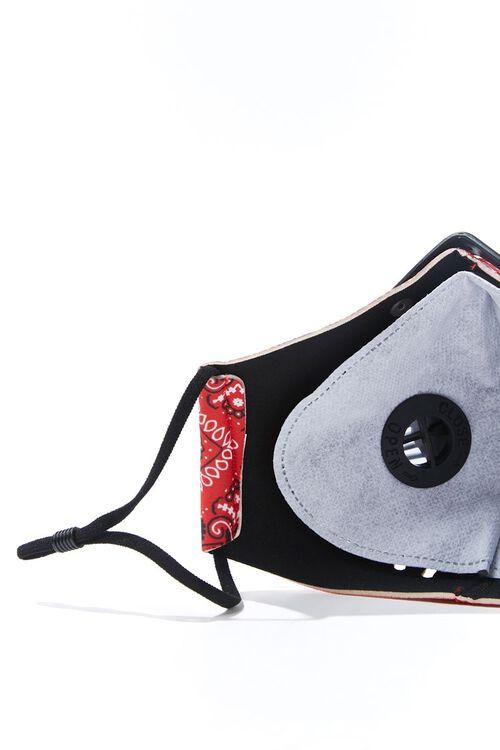 RED/MULTI Men Paisley Face Mask, image 4