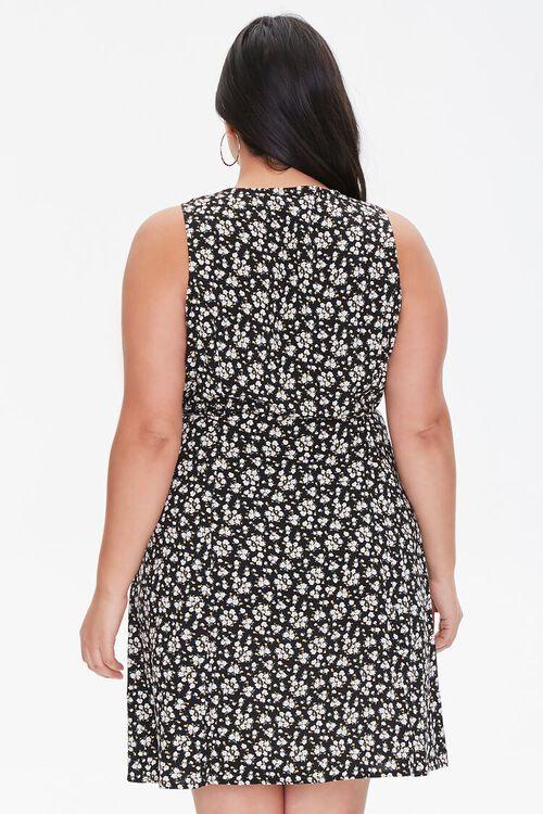 Plus Size Floral Print Mini Dress, image 3