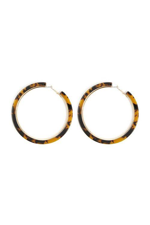 Tortoiseshell Hoop Earrings, image 1