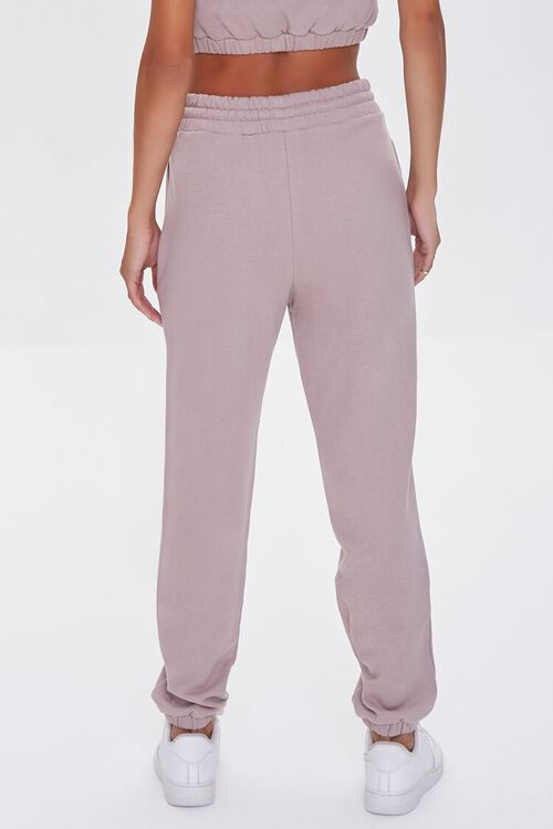 TAUPE French Terry Drawstring Joggers, image 4