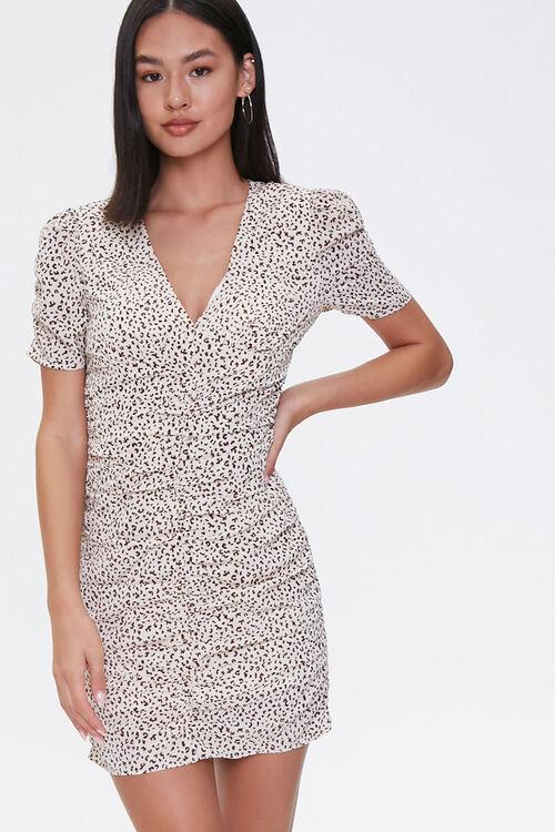 Cheetah Print Mini Dress, image 1