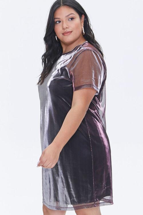 Plus Size Metallic T-Shirt Dress, image 2