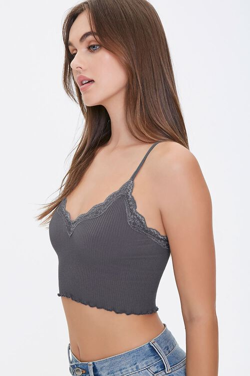 Seamless Lace-Trim Bralette, image 2