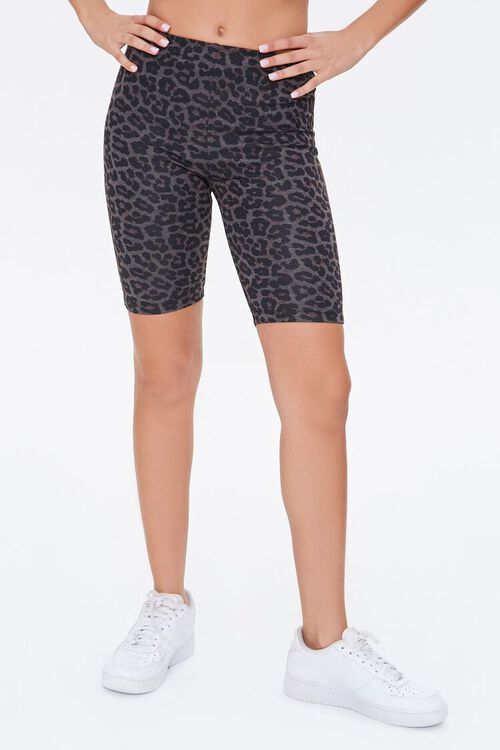 Leopard Print Biker Shorts, image 2