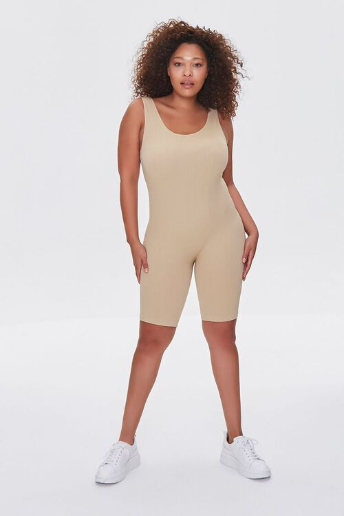 Plus Size Sleeveless Fitted Romper, image 4