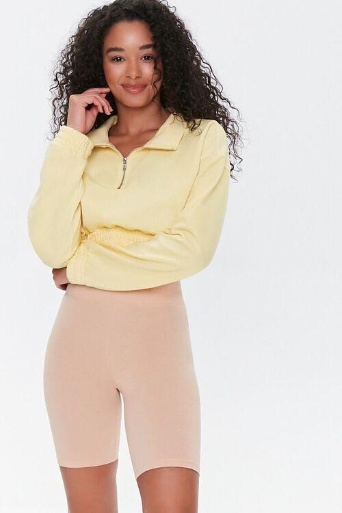 Cotton-Blend Biker Shorts, image 1