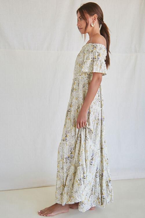 Floral Off-the-Shoulder Maxi Dress, image 2