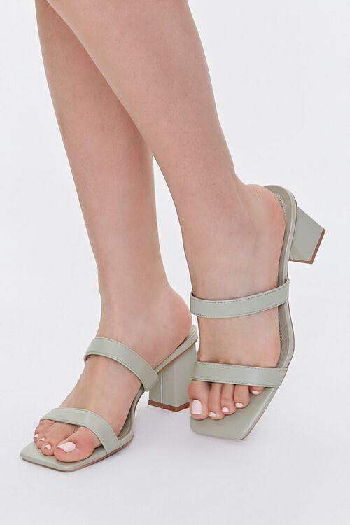 Square-Toe Block Heels, image 1