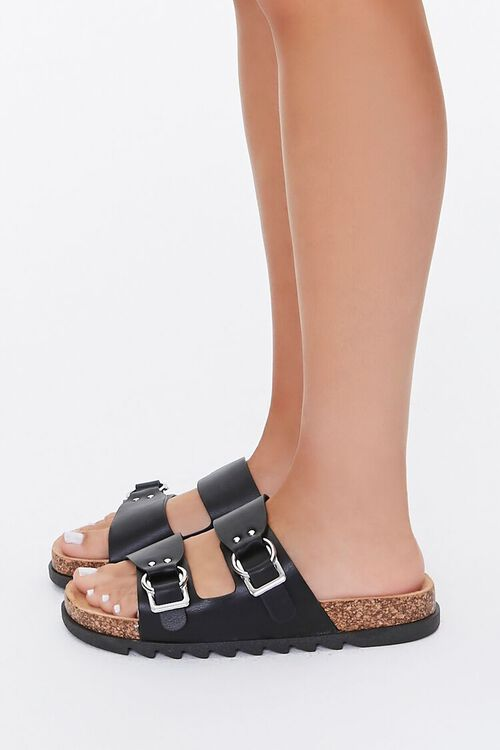 Faux Leather Buckled Sandals, image 3