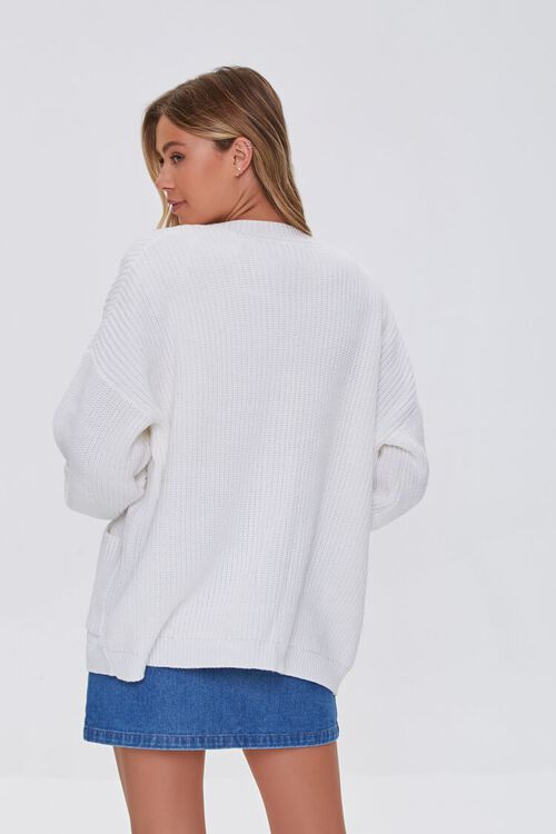 Balloon-Sleeve Cardigan Sweater, image 3