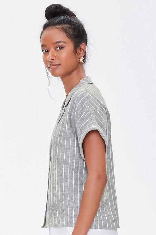 Striped Linen-Blend Shirt, image 2
