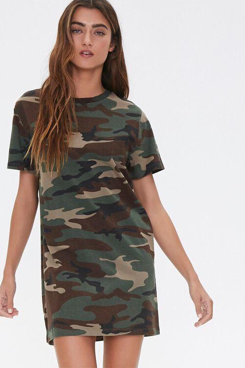 Camo Print T-Shirt Dress, image 2