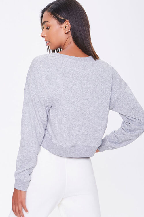 Split-Neck French Terry Pullover, image 3