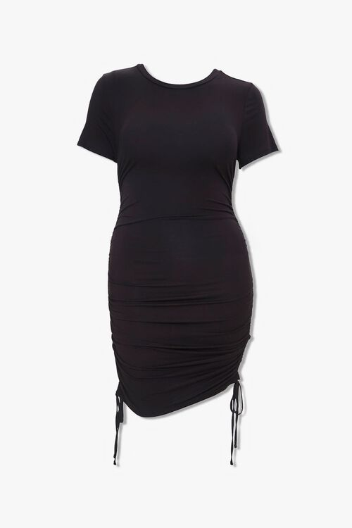Plus Size Ruched T-Shirt Dress, image 1