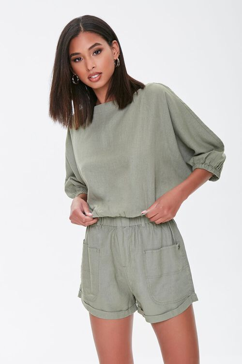 Kendall & Kylie Linen-Blend Shorts, image 1