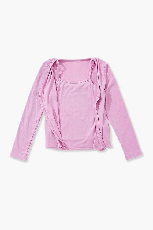 PINK Girls Cami & Cardigan Sweater Set (Kids), image 1
