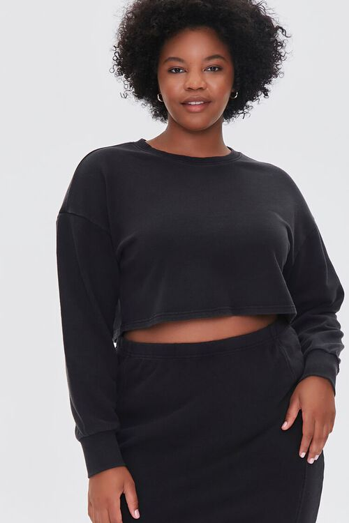 Plus Size Crop Top & Skirt Set, image 4