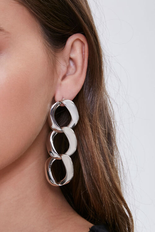 Curb Chain Drop Earrings, image 1