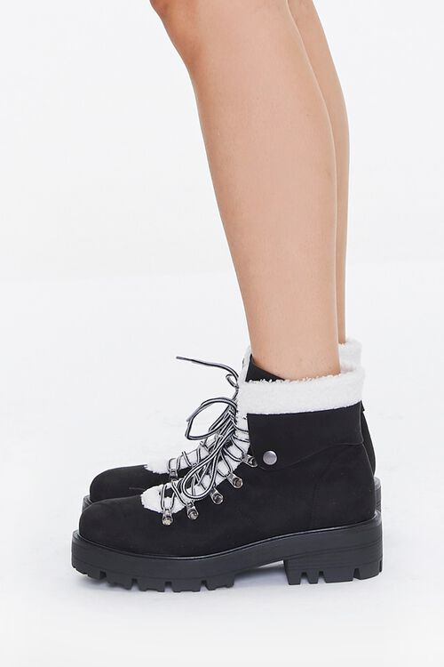Faux Shearling-Trim Ankle Boots, image 2